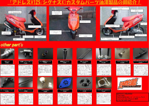 油漢コンプリート V125 使用パーツ